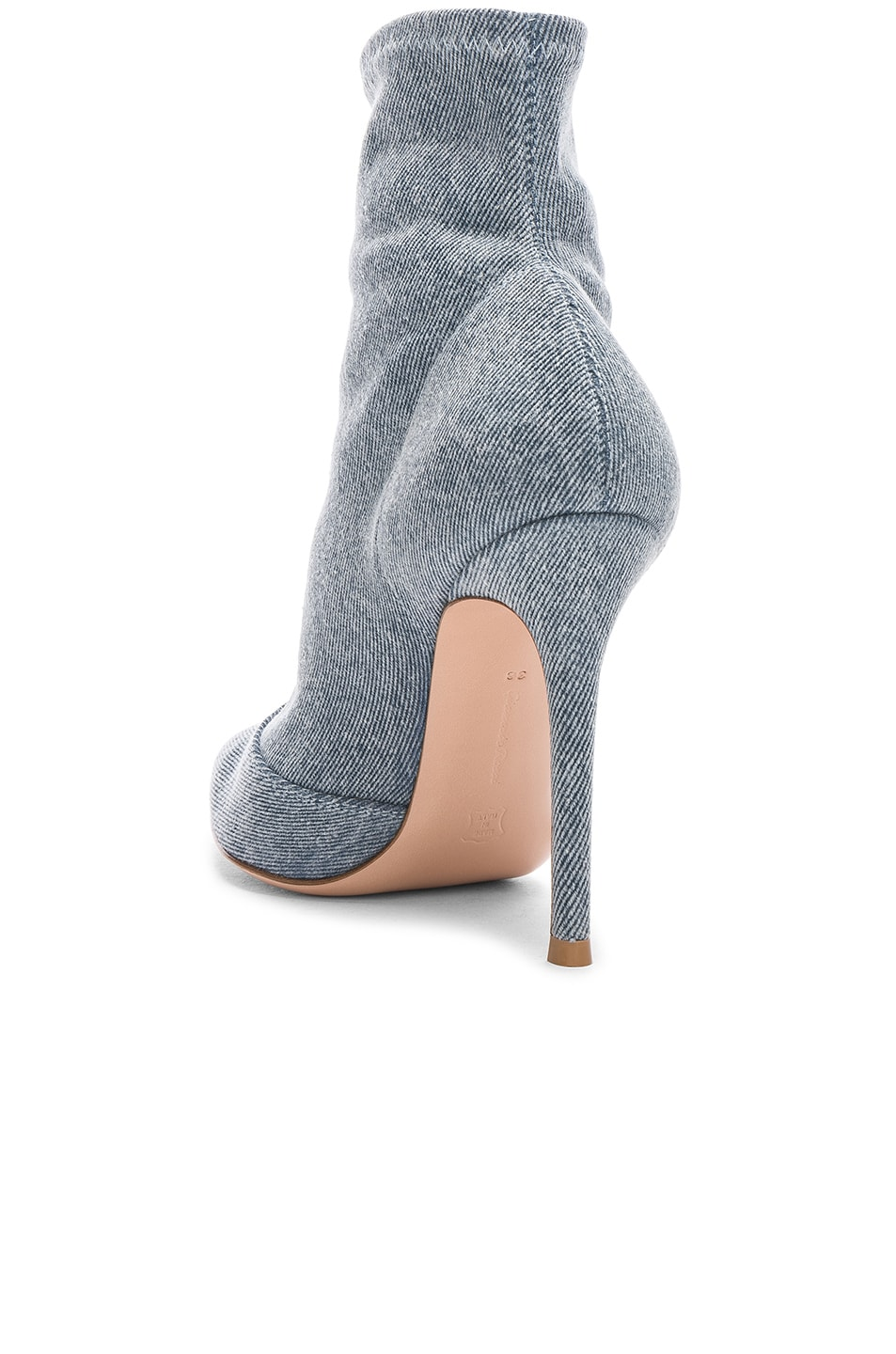 Image 3 of Gianvito Rossi Denim Stretch Ankle Booties in Stonewash