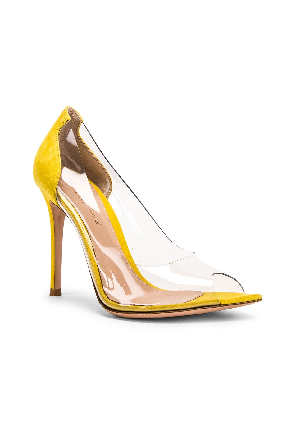 Image 2 of Gianvito Rossi Open Toe Heel in Mimosa & Transparent