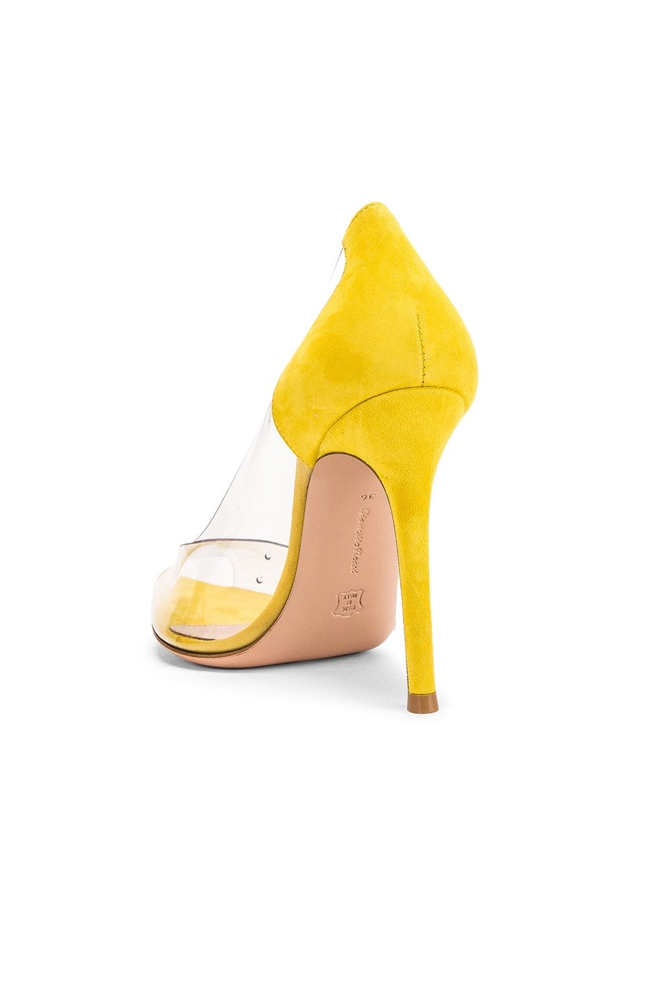 Image 3 of Gianvito Rossi Open Toe Heel in Mimosa & Transparent