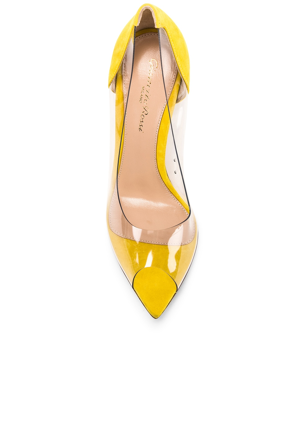 Image 4 of Gianvito Rossi Open Toe Heel in Mimosa & Transparent
