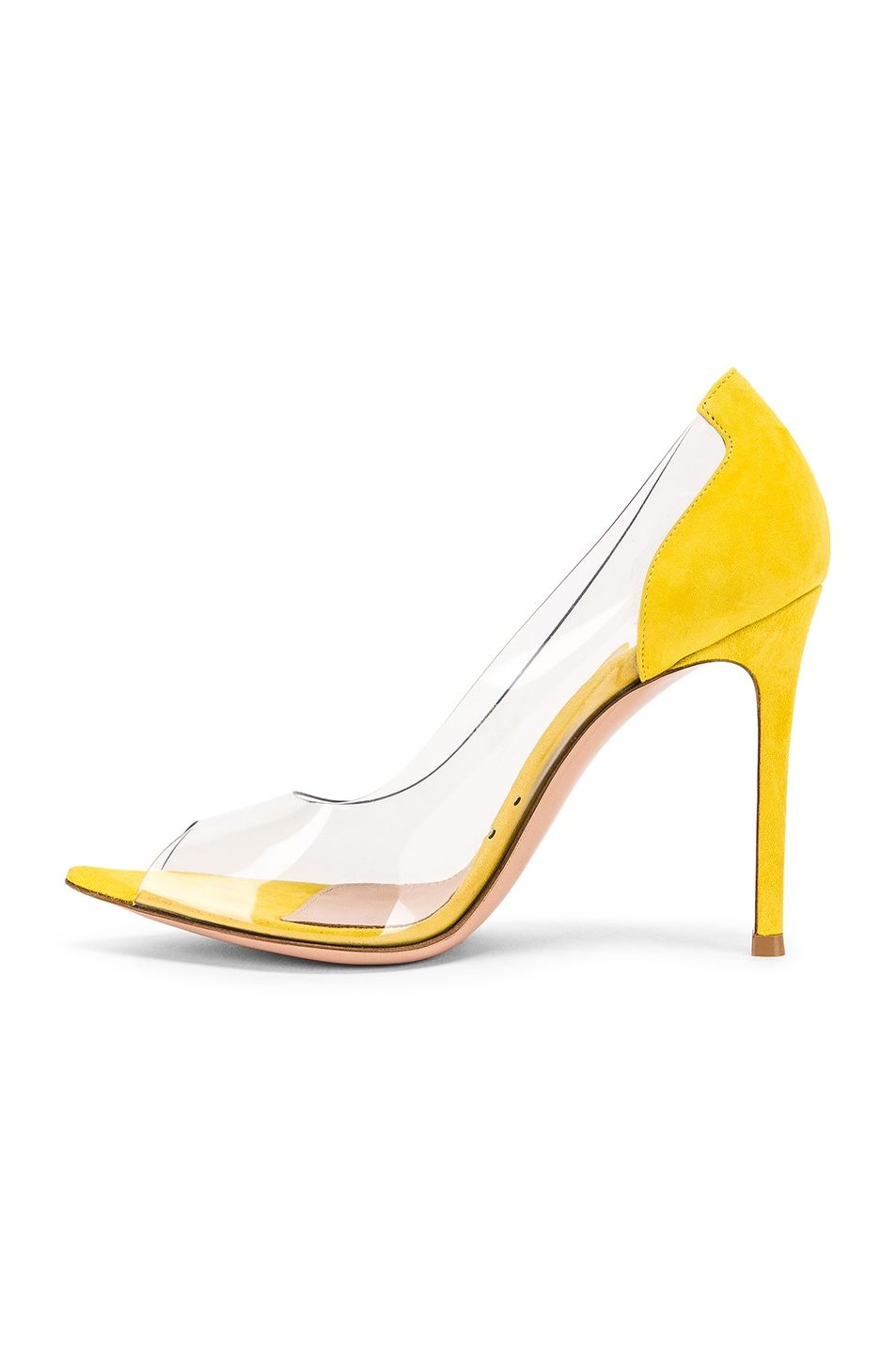 Image 5 of Gianvito Rossi Open Toe Heel in Mimosa & Transparent