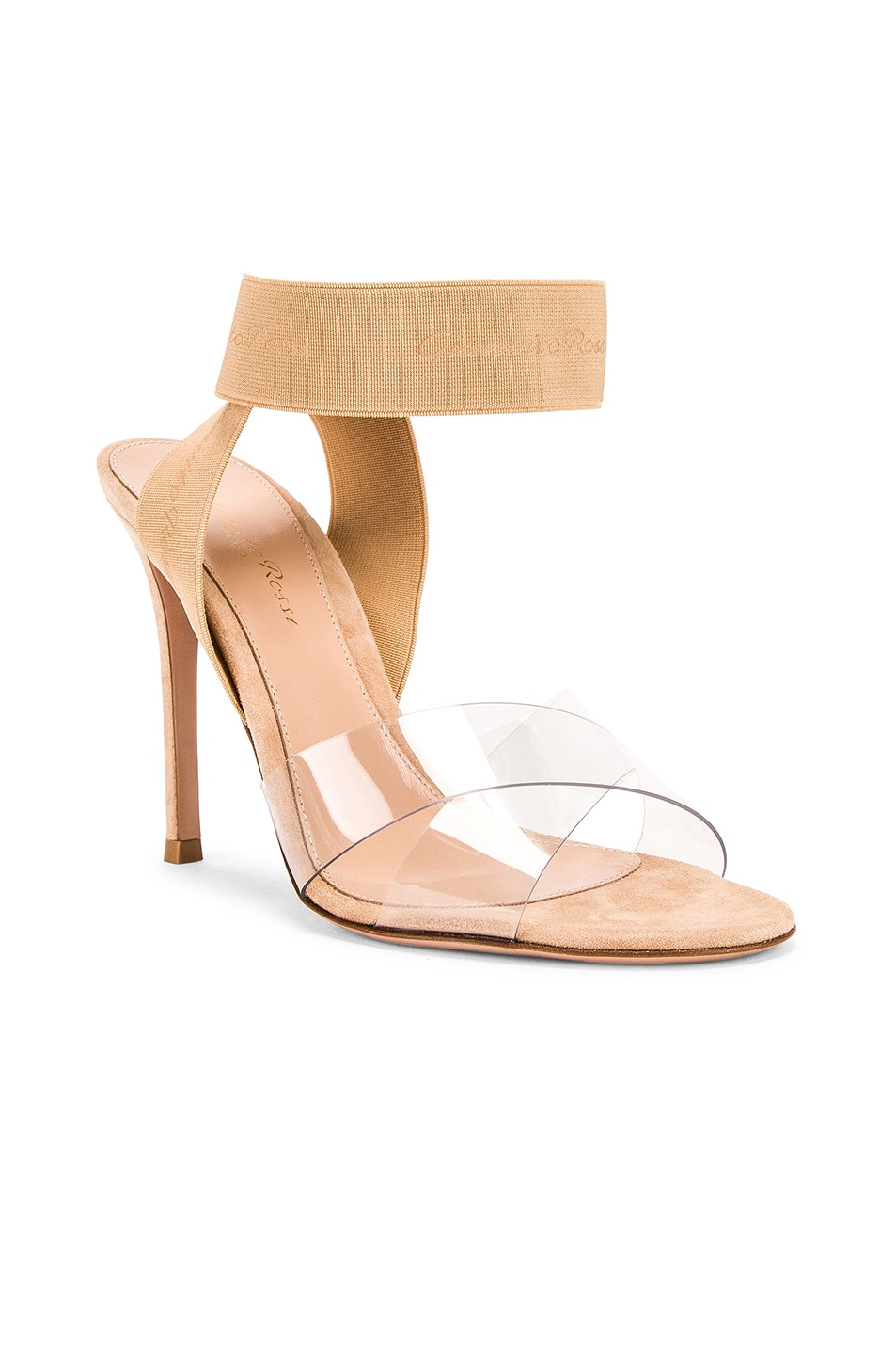 Image 2 of Gianvito Rossi Strap Heels in Nude & Transparent