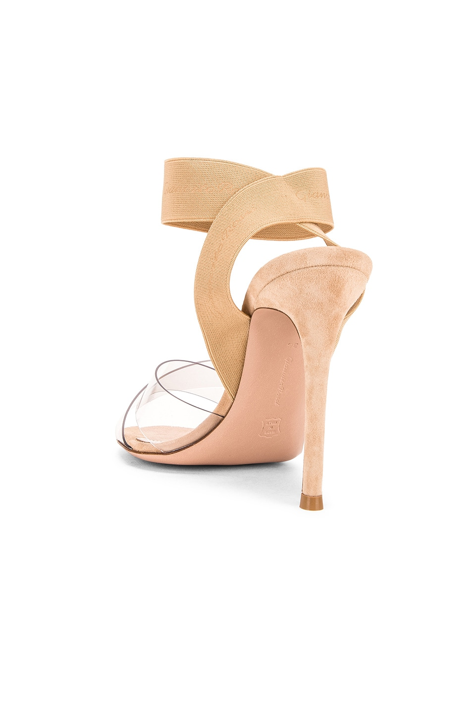 Image 3 of Gianvito Rossi Strap Heels in Nude & Transparent