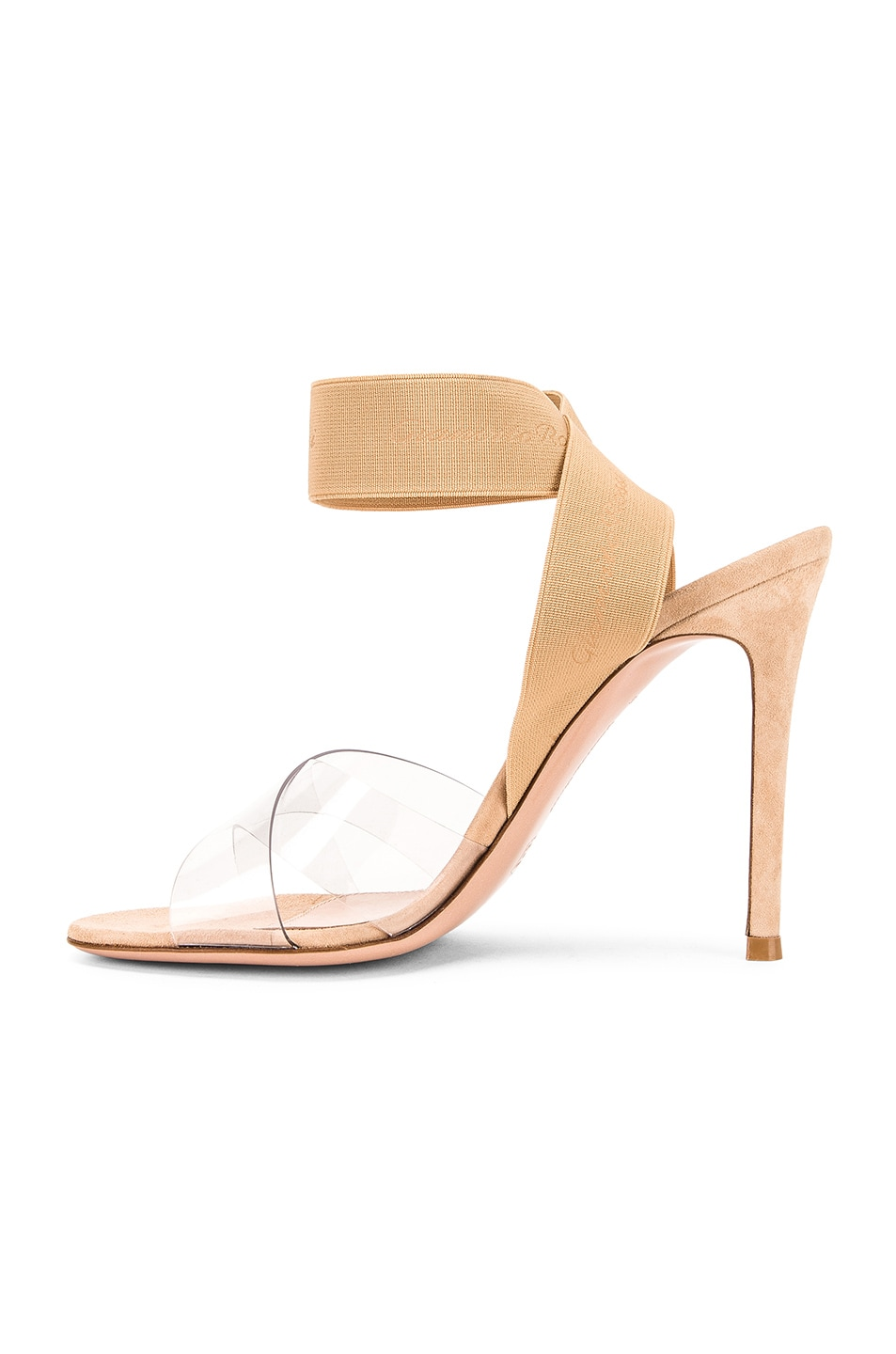 Image 5 of Gianvito Rossi Strap Heels in Nude & Transparent