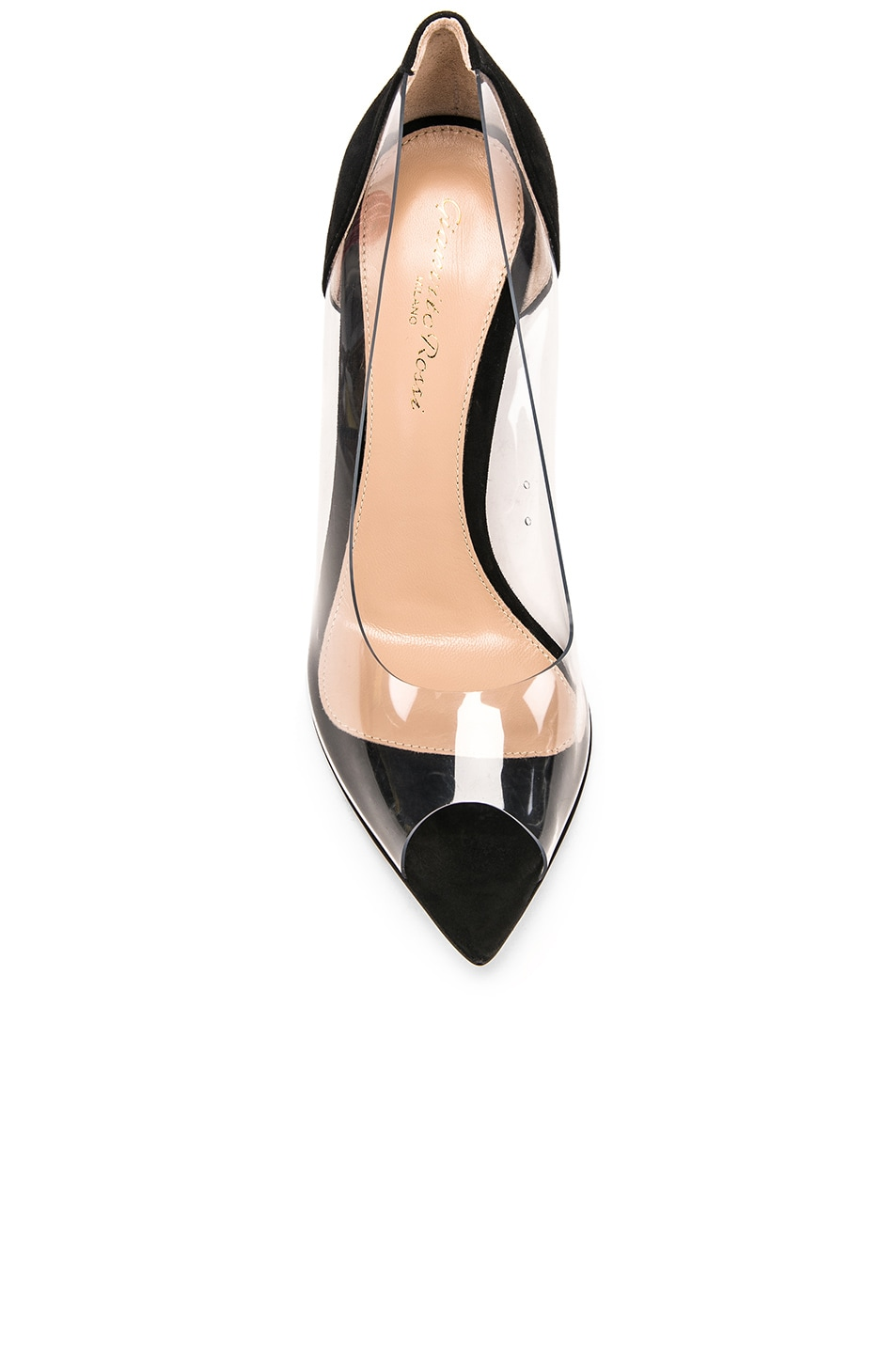 Image 4 of Gianvito Rossi Open Toe Heel in Black & Transparent