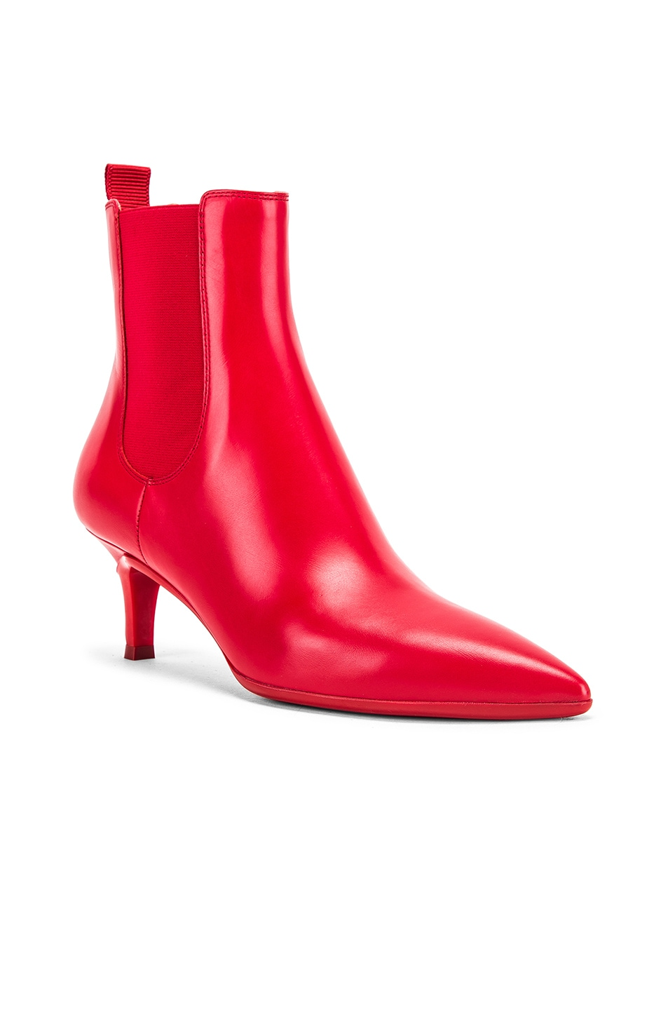 Image 2 of Gianvito Rossi Ankle Bootie in Tabasco Red