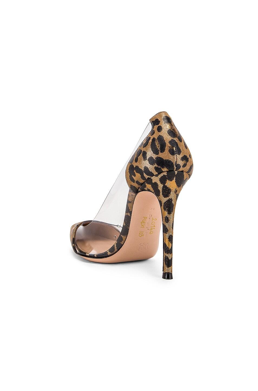 Image 3 of Gianvito Rossi Leopard & Plexi Pumps in Gold Leopard