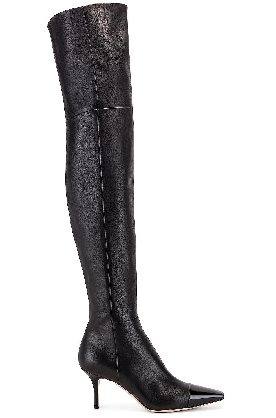 Image 1 of Gianvito Rossi Over the Knee Toe Cap Boots in Black