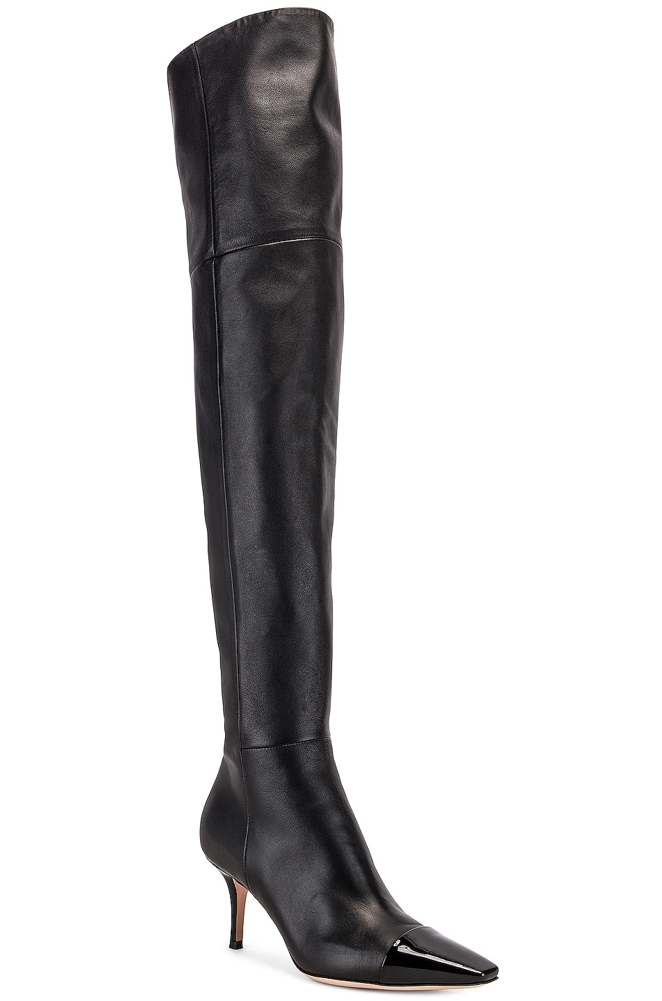Image 2 of Gianvito Rossi Over the Knee Toe Cap Boots in Black