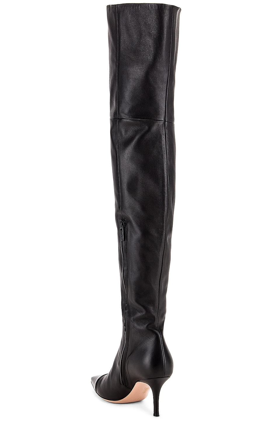 Image 3 of Gianvito Rossi Over the Knee Toe Cap Boots in Black