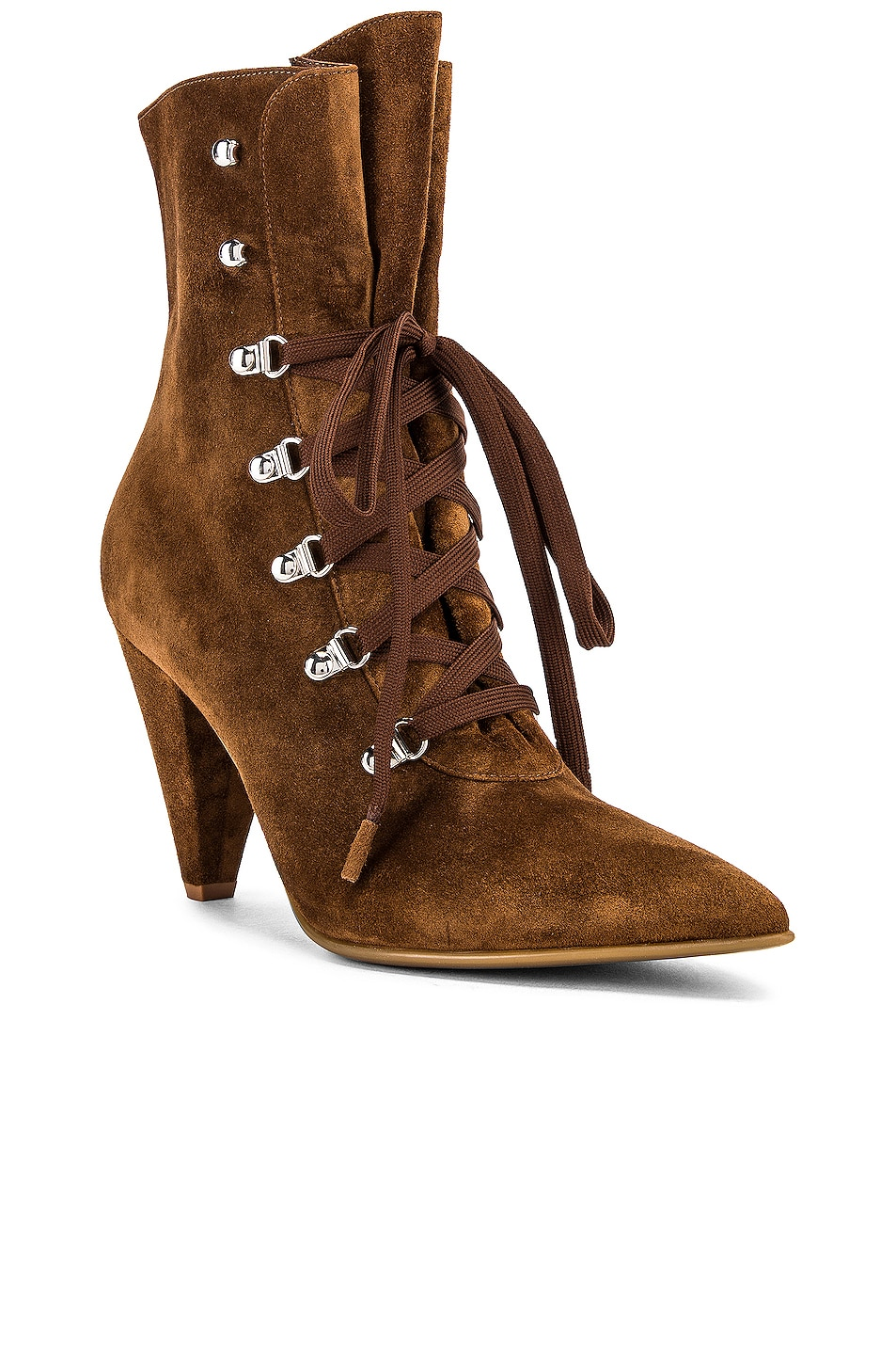 Image 2 of Gianvito Rossi Lace Up Ankle Booties in Texas