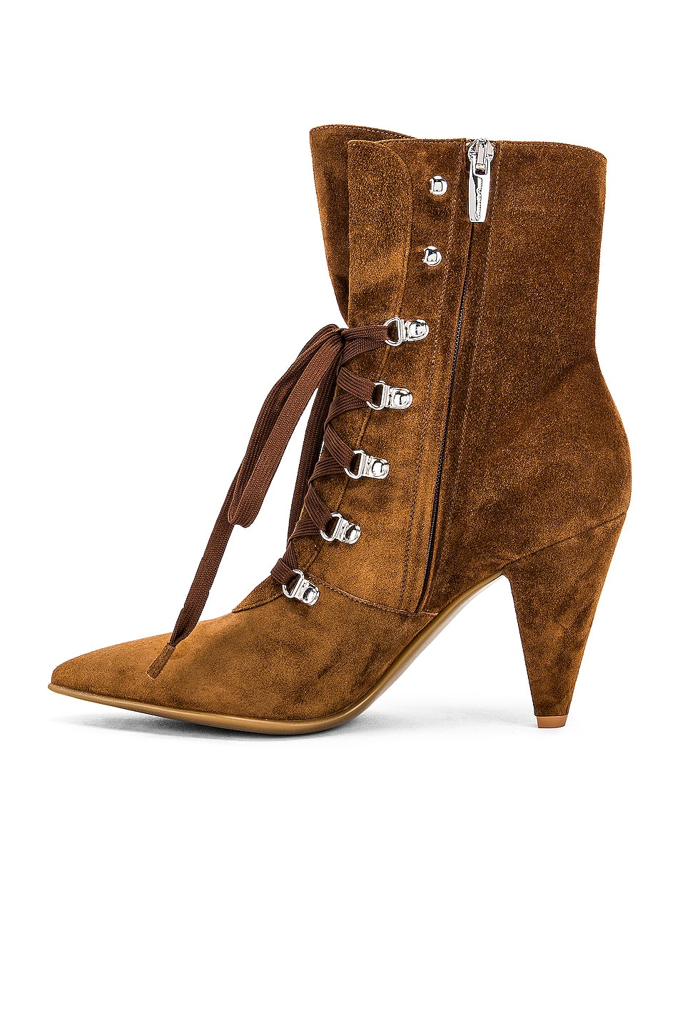 Image 5 of Gianvito Rossi Lace Up Ankle Booties in Texas
