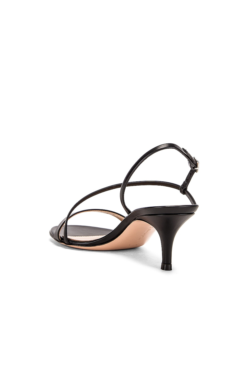 Image 3 of Gianvito Rossi Manhattan Strappy Kitten Heels in Black