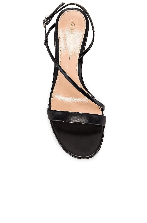 Image 4 of Gianvito Rossi Manhattan Strappy Kitten Heels in Black