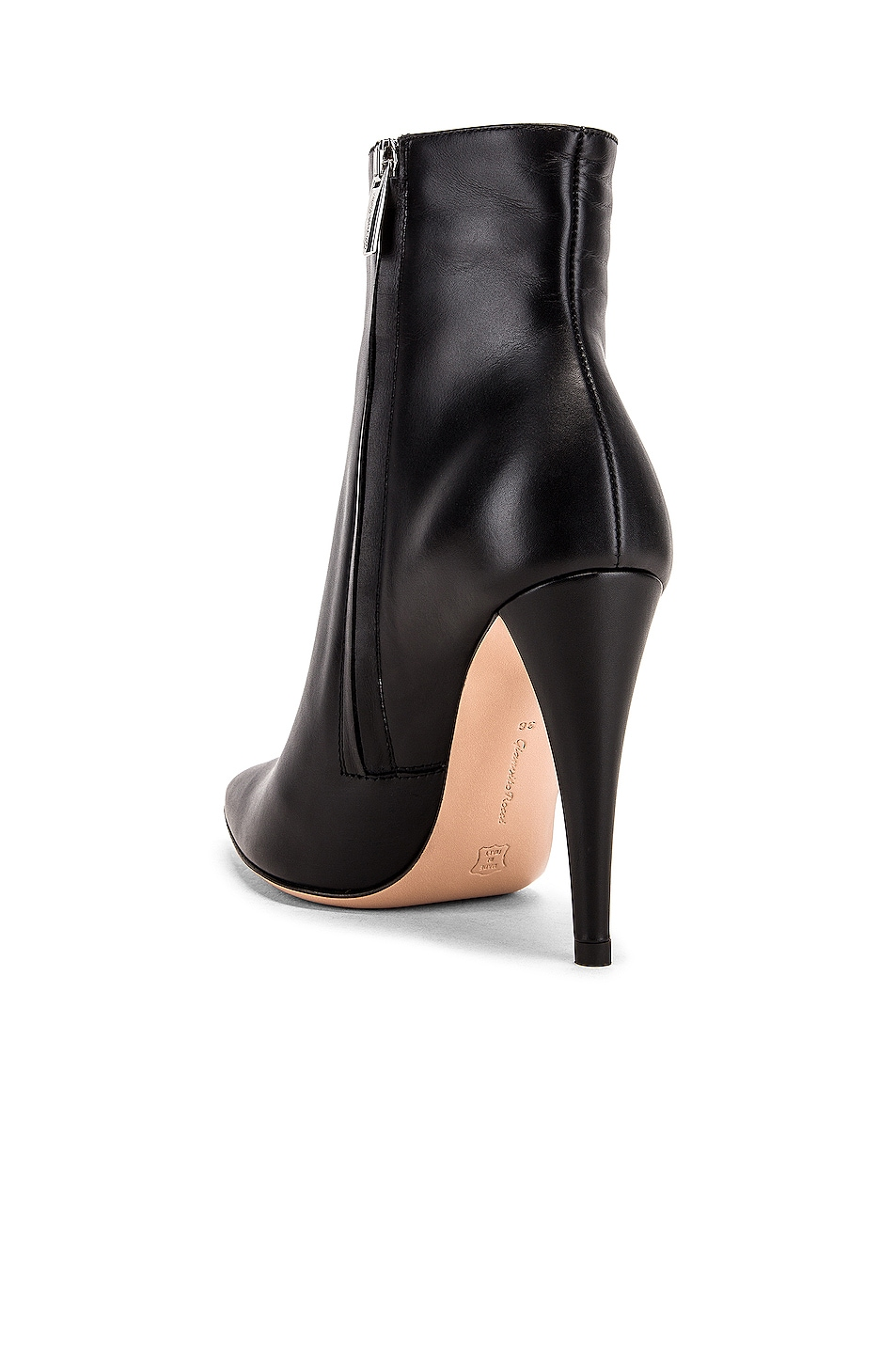 Image 3 of Gianvito Rossi Scarlet Ankle Heel Booties in Black