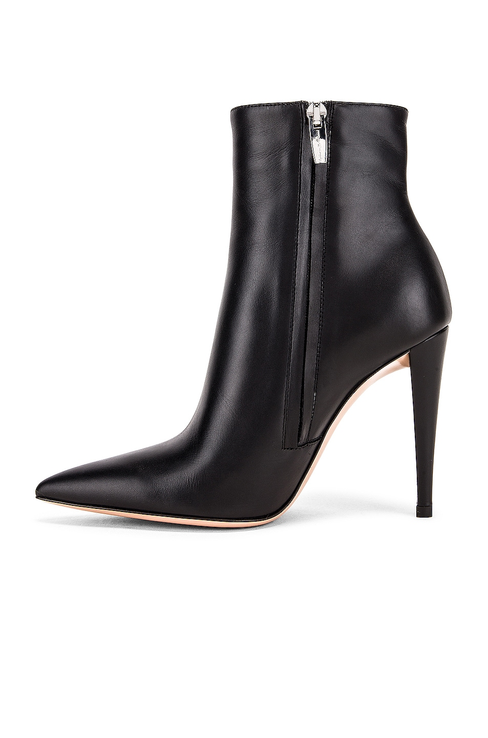 Image 5 of Gianvito Rossi Scarlet Ankle Heel Booties in Black