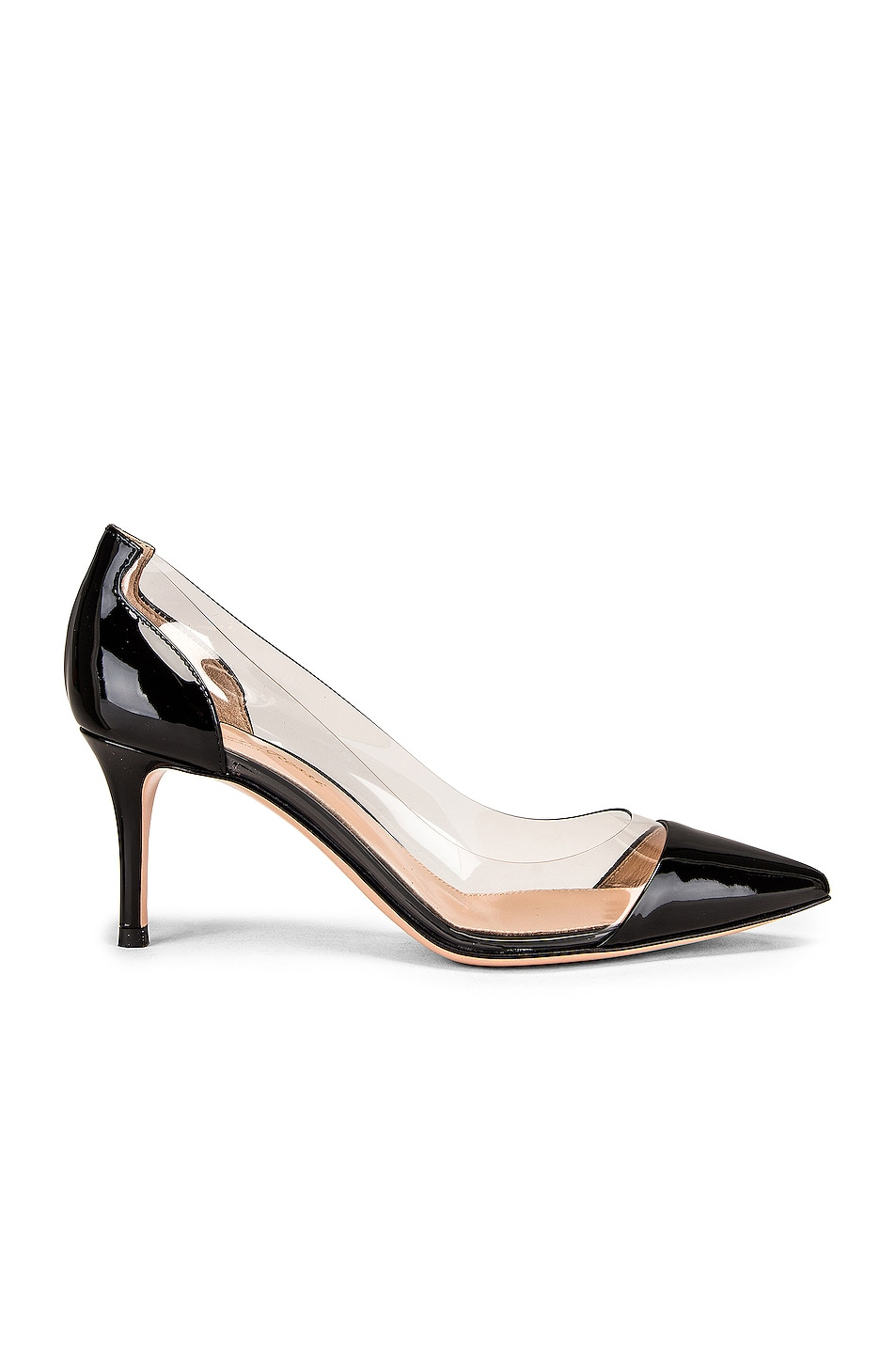 Image 1 of Gianvito Rossi Plexi Heels in Black & Transparent