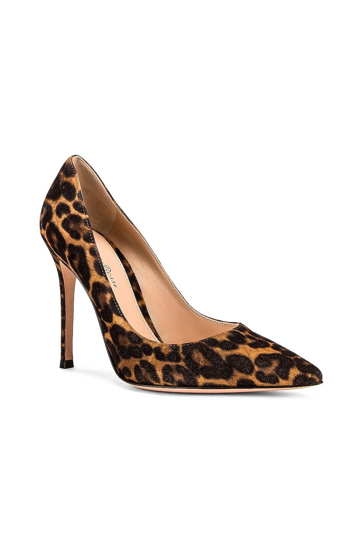 Image 2 of Gianvito Rossi Camoscio Gianvito Leopard Heels in Almond Leopard Print