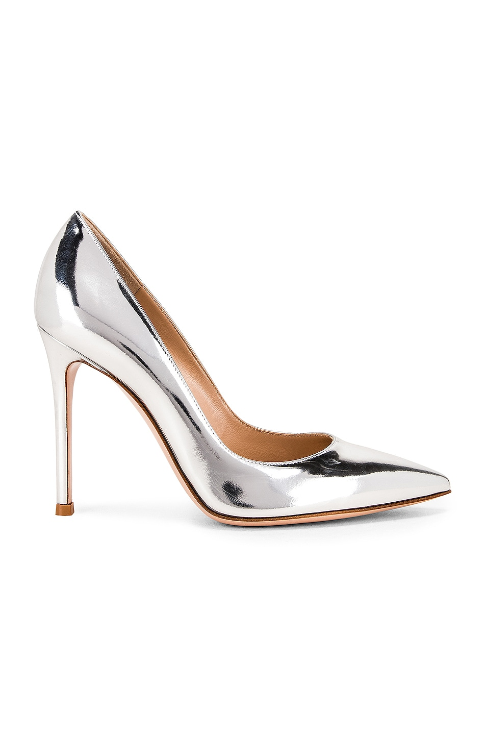 Image 1 of Gianvito Rossi Metal Gianvito Heels in Silver