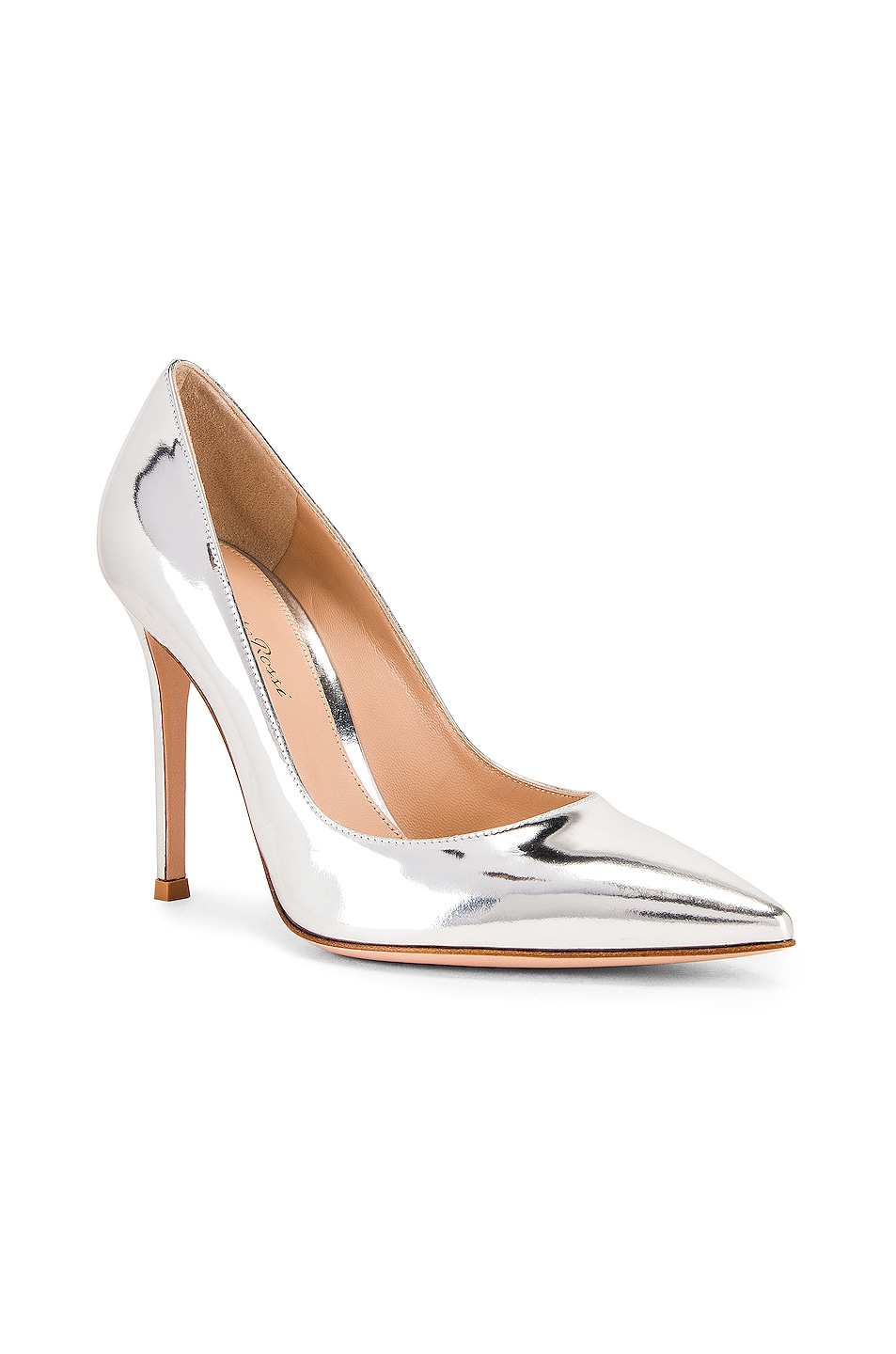 Image 2 of Gianvito Rossi Metal GIanvito Heels in Silver
