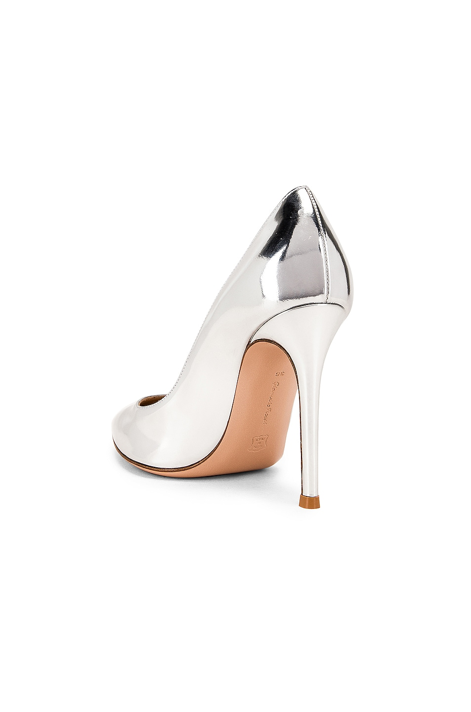 Image 3 of Gianvito Rossi Metal GIanvito Heels in Silver