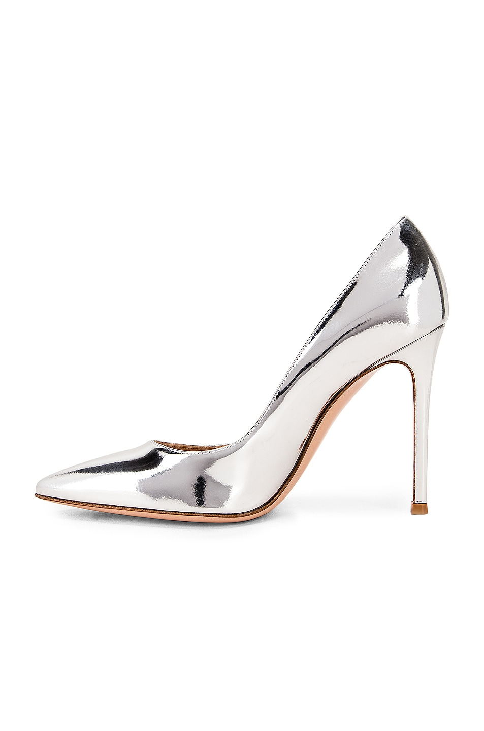 Image 5 of Gianvito Rossi Metal GIanvito Heels in Silver