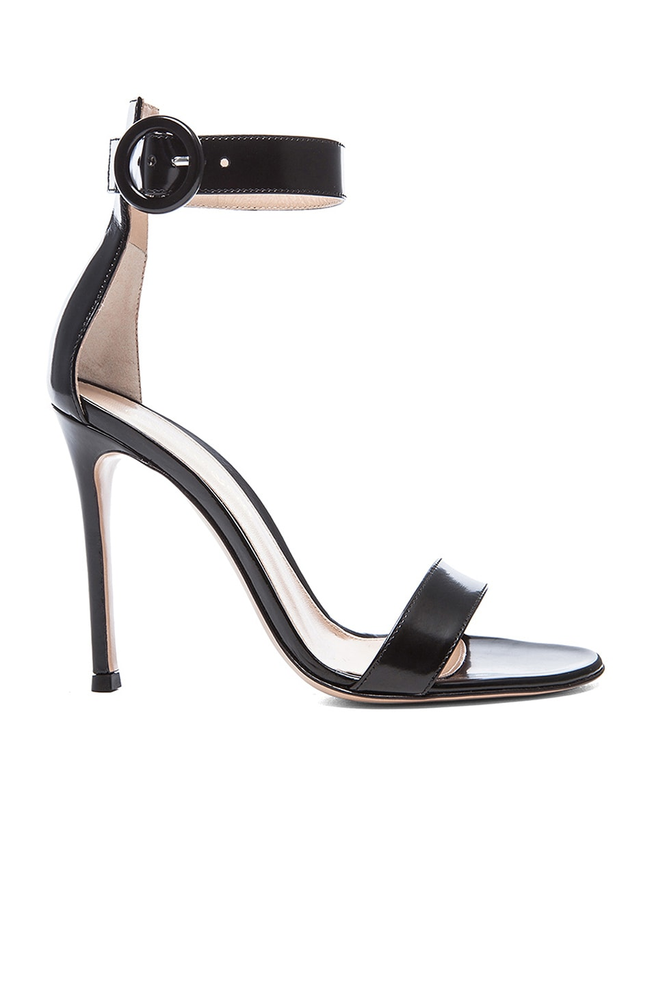Image 1 of Gianvito Rossi Patent Portofino Heels in Black