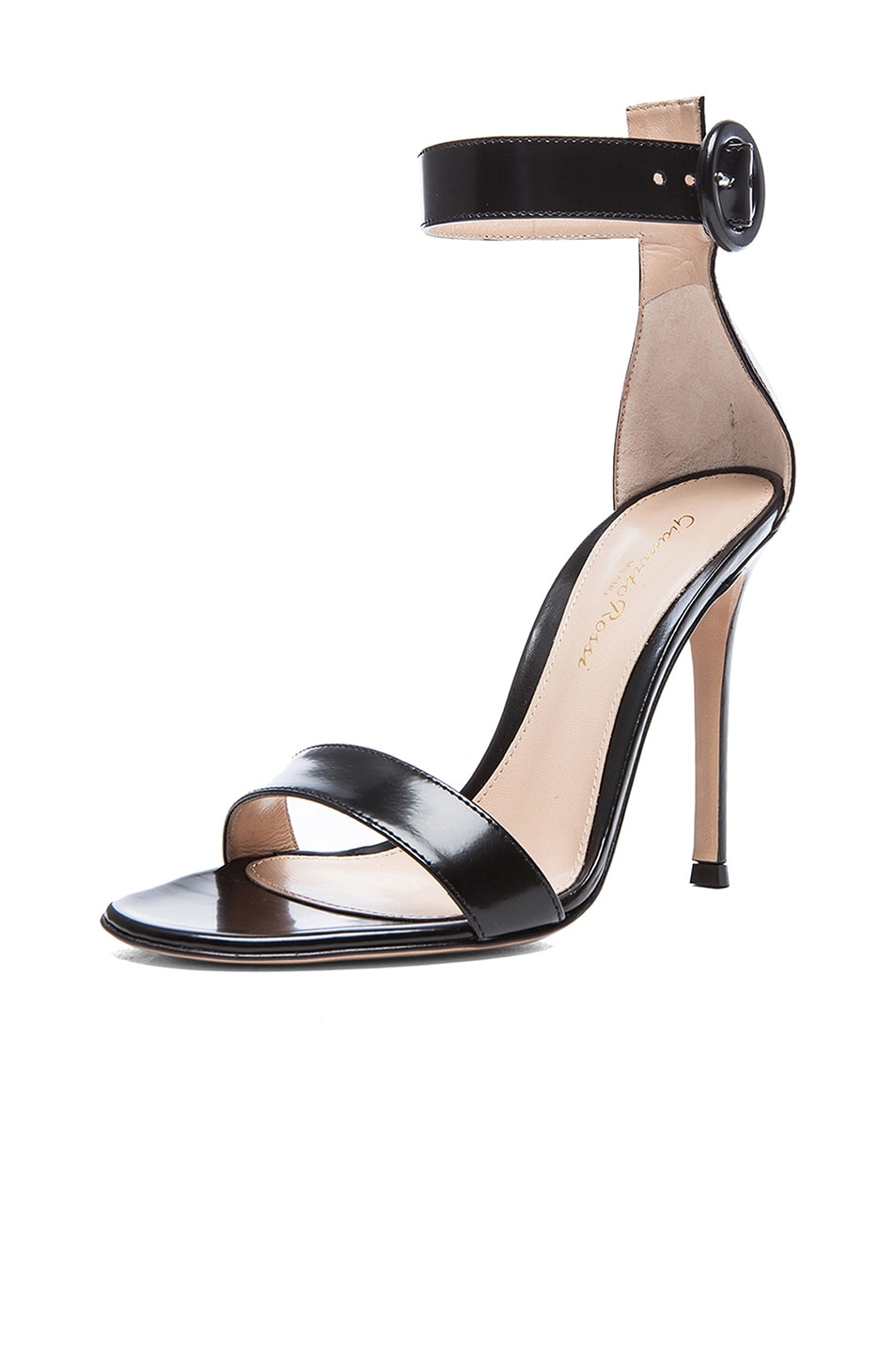 Image 2 of Gianvito Rossi Patent Portofino Heels in Black