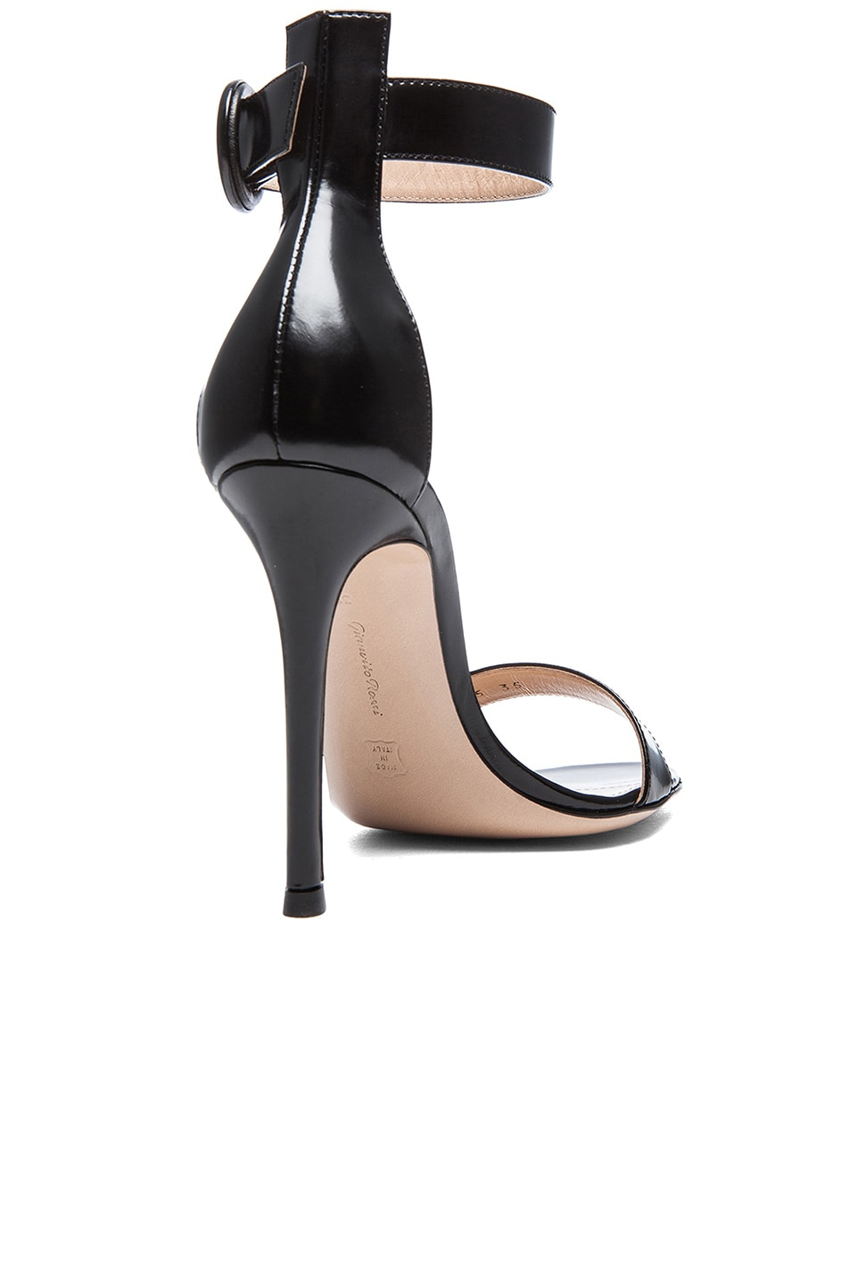 Image 3 of Gianvito Rossi Patent Portofino Heels in Black
