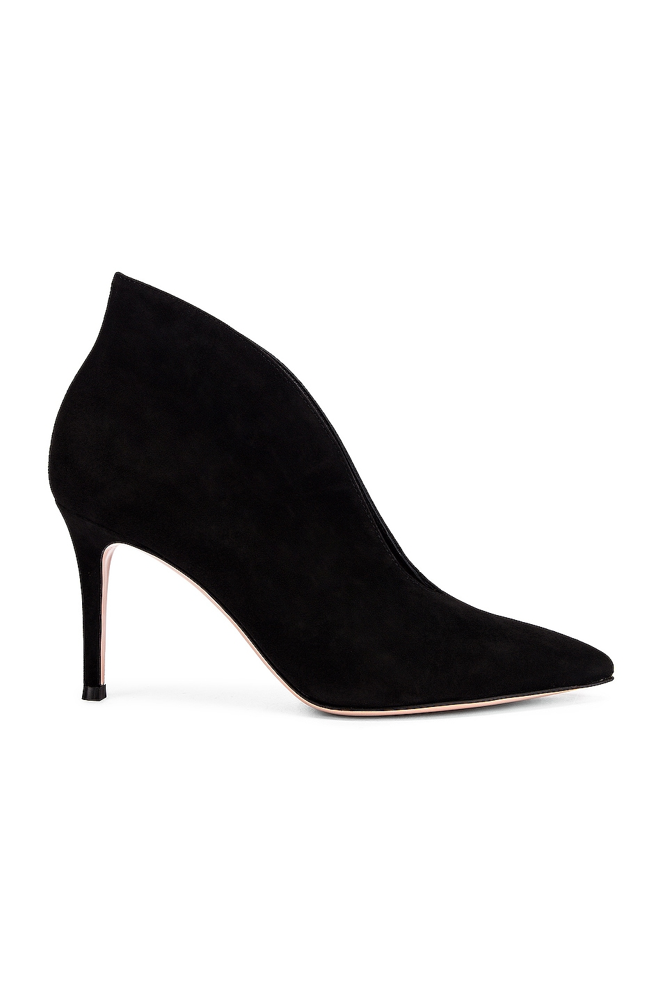Image 1 of Gianvito Rossi Open Bootie Heels in Black
