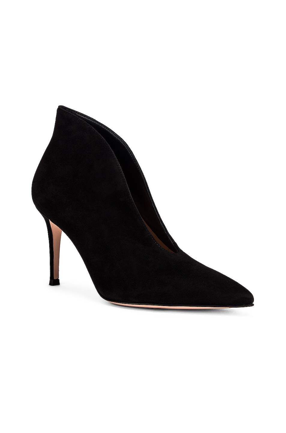 Image 2 of Gianvito Rossi Open Bootie Heels in Black