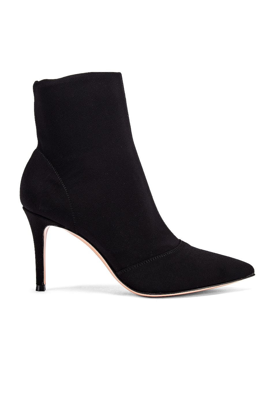Image 1 of Gianvito Rossi Stretch Ankle Booties in Black