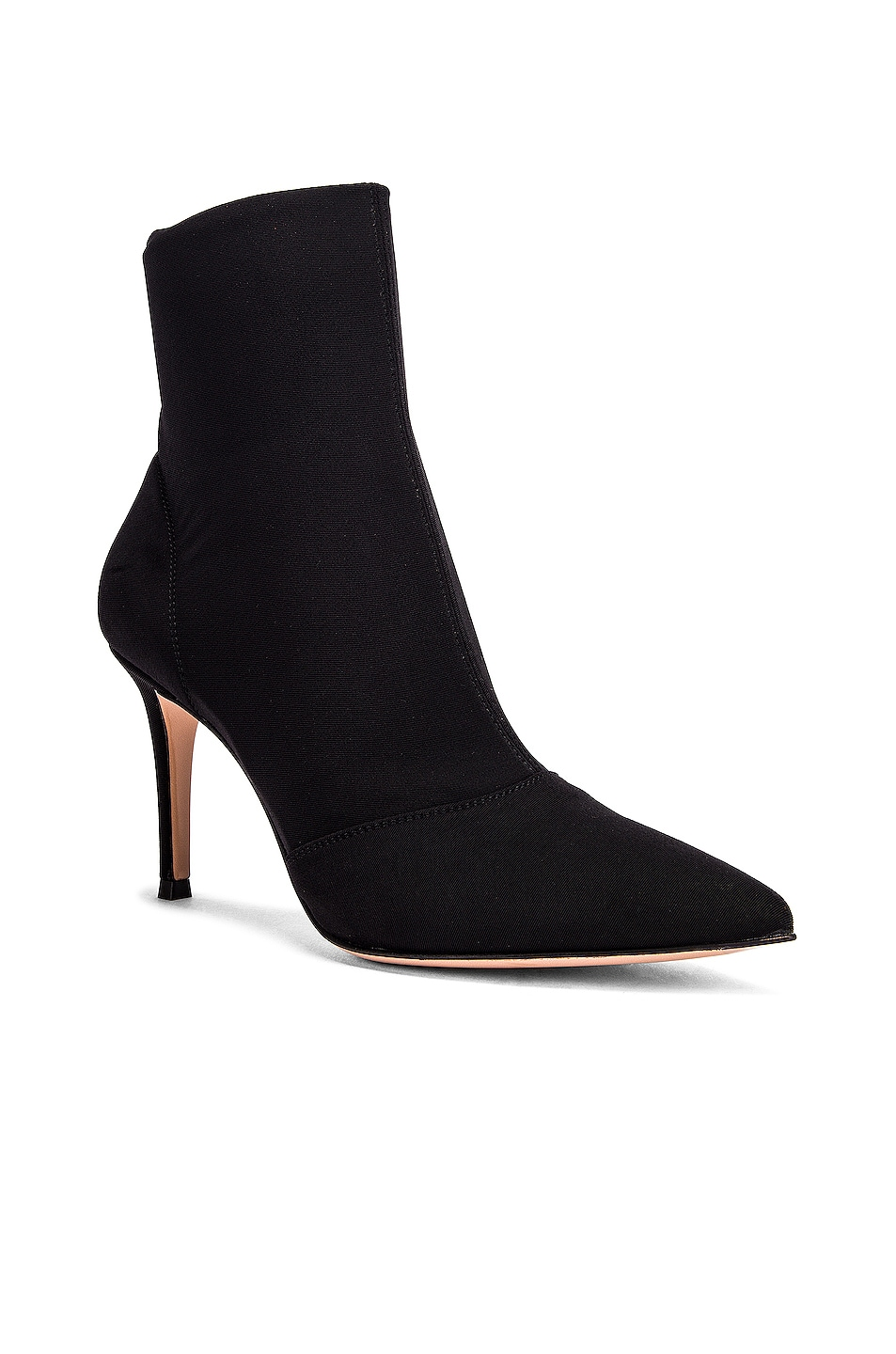 Image 2 of Gianvito Rossi Stretch Ankle Booties in Black