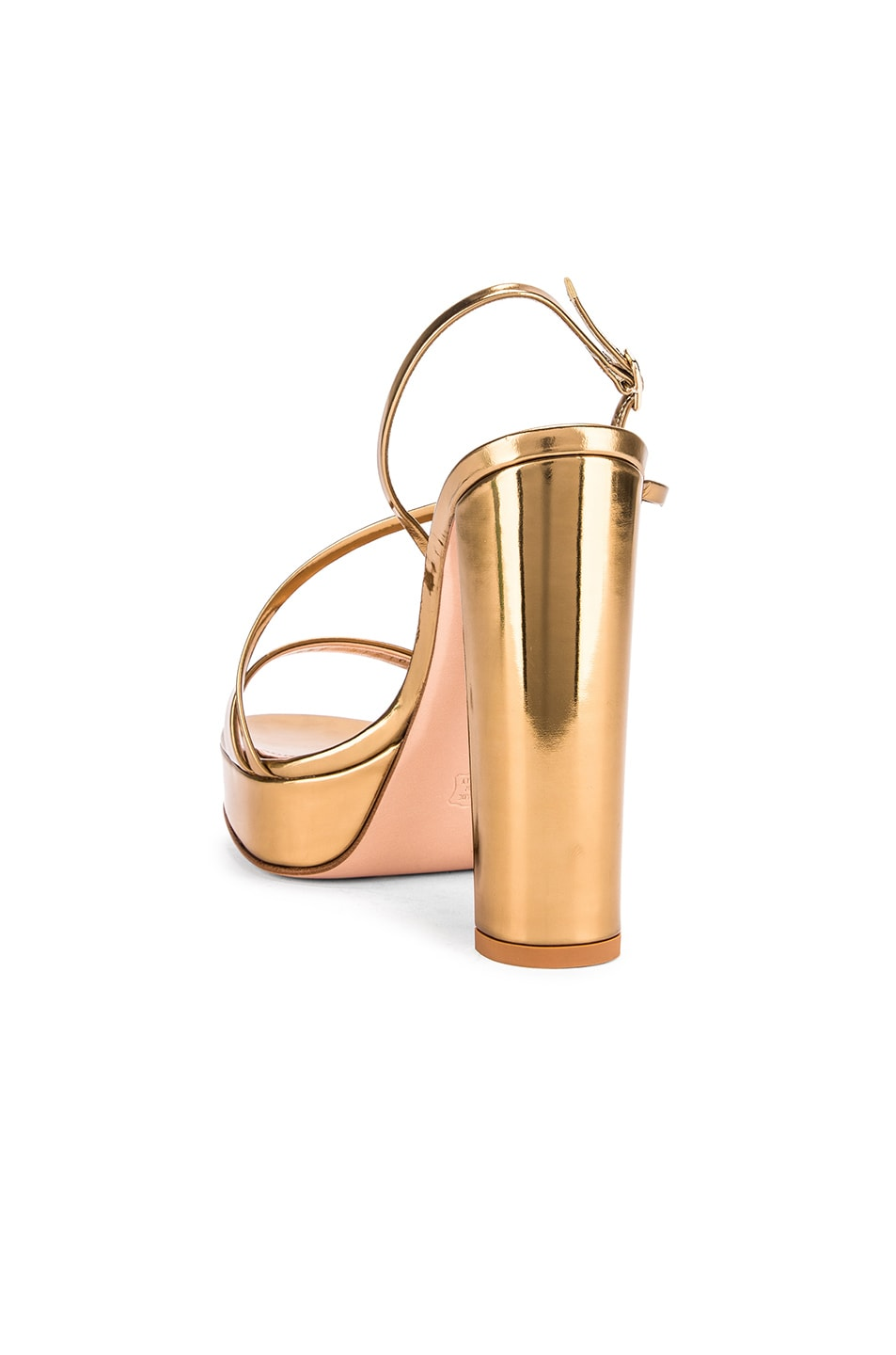 Image 3 of Gianvito Rossi Kimberly Strappy Sandal Heels in Gold