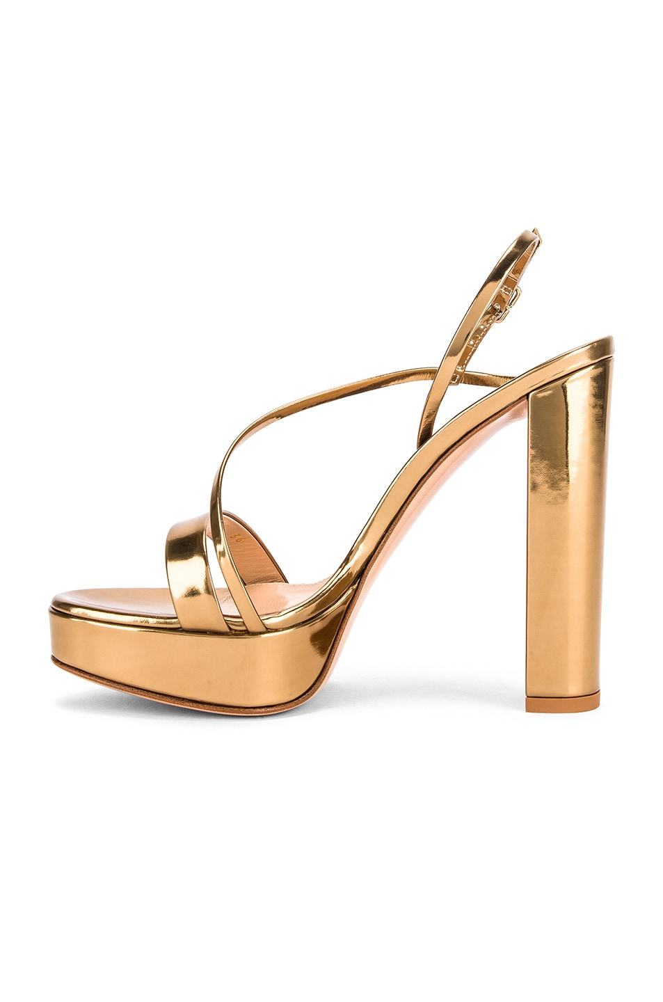 Image 5 of Gianvito Rossi Kimberly Strappy Sandal Heels in Gold