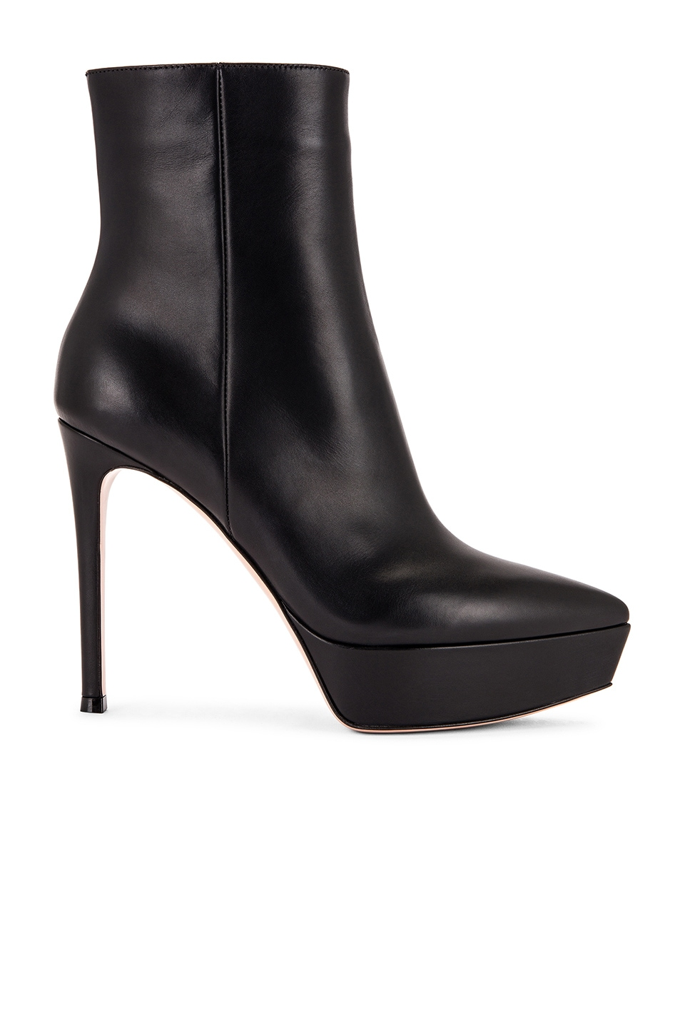 Image 1 of Gianvito Rossi Platform Ankle Booties in Black
