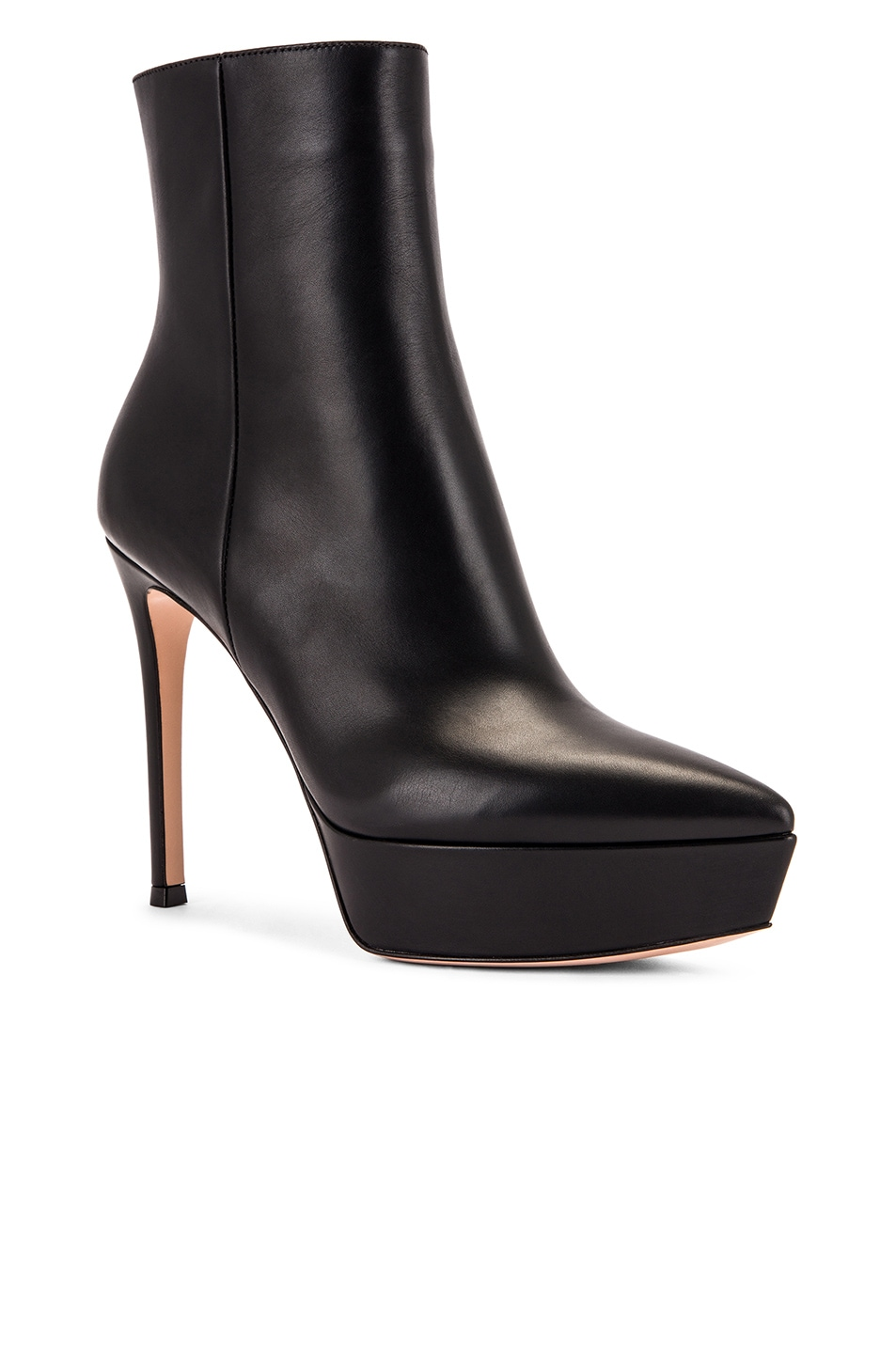 Image 2 of Gianvito Rossi Platform Ankle Booties in Black