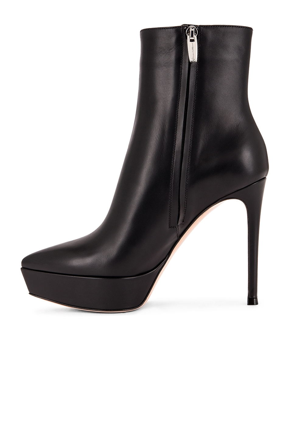Image 5 of Gianvito Rossi Platform Ankle Booties in Black