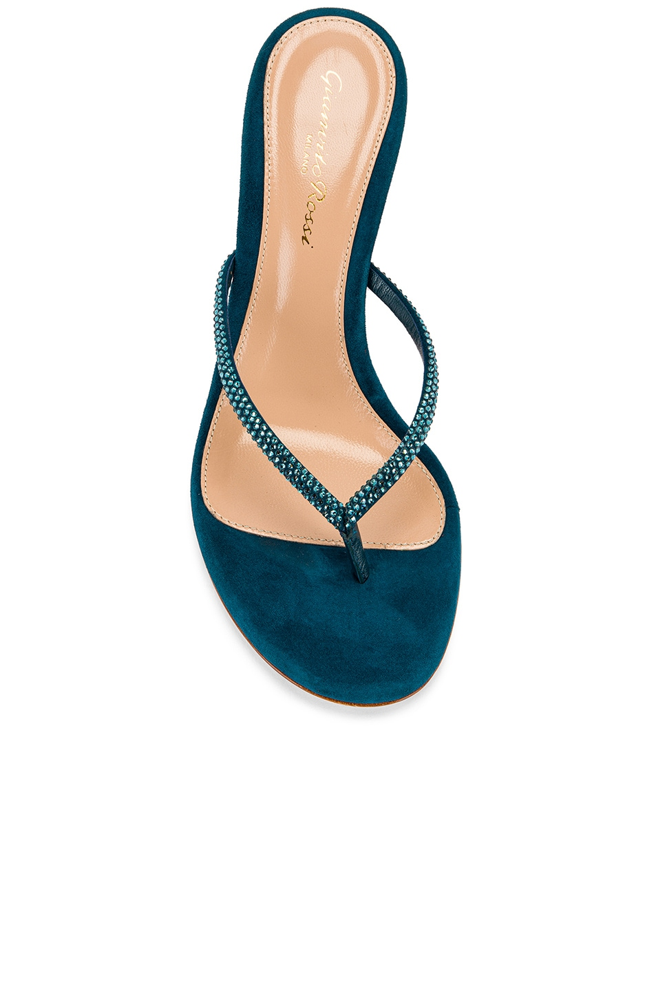 Image 4 of Gianvito Rossi Suede Thong Sandals in Persian