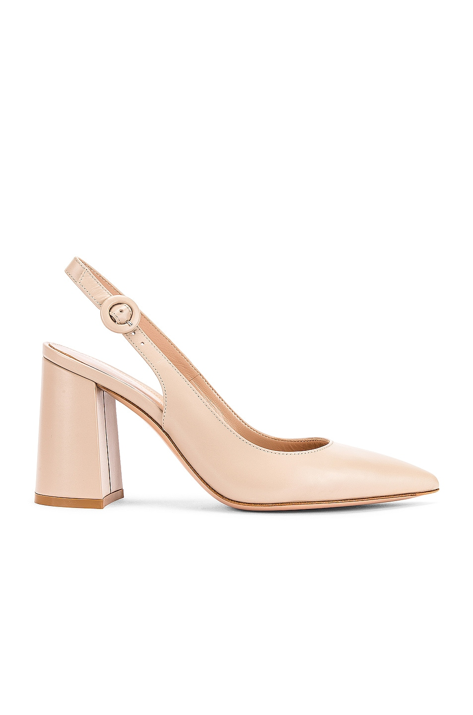 Image 1 of Gianvito Rossi Vitello Slingback Sandals in Mousse