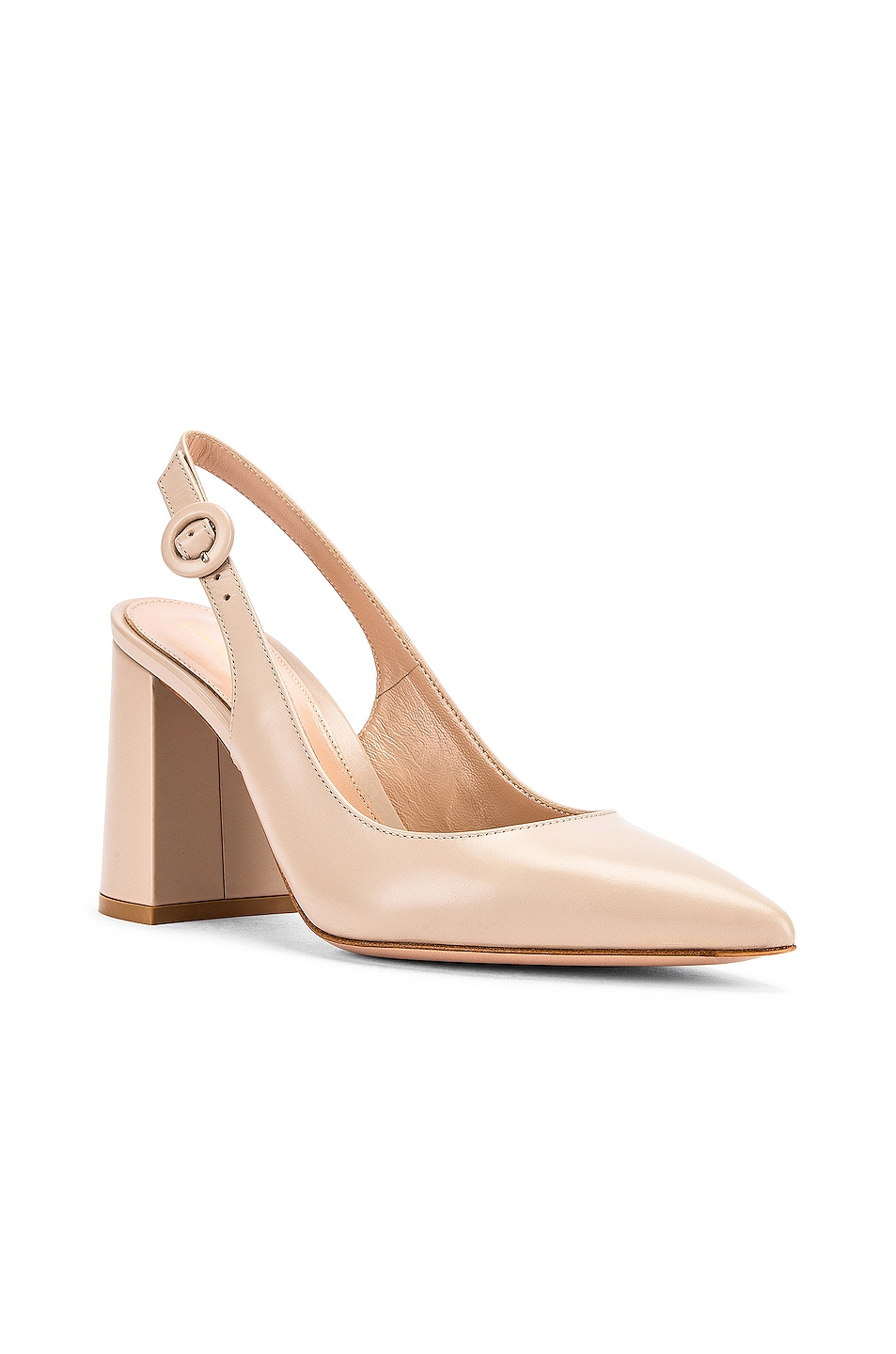Image 2 of Gianvito Rossi Vitello Slingback Sandals in Mousse