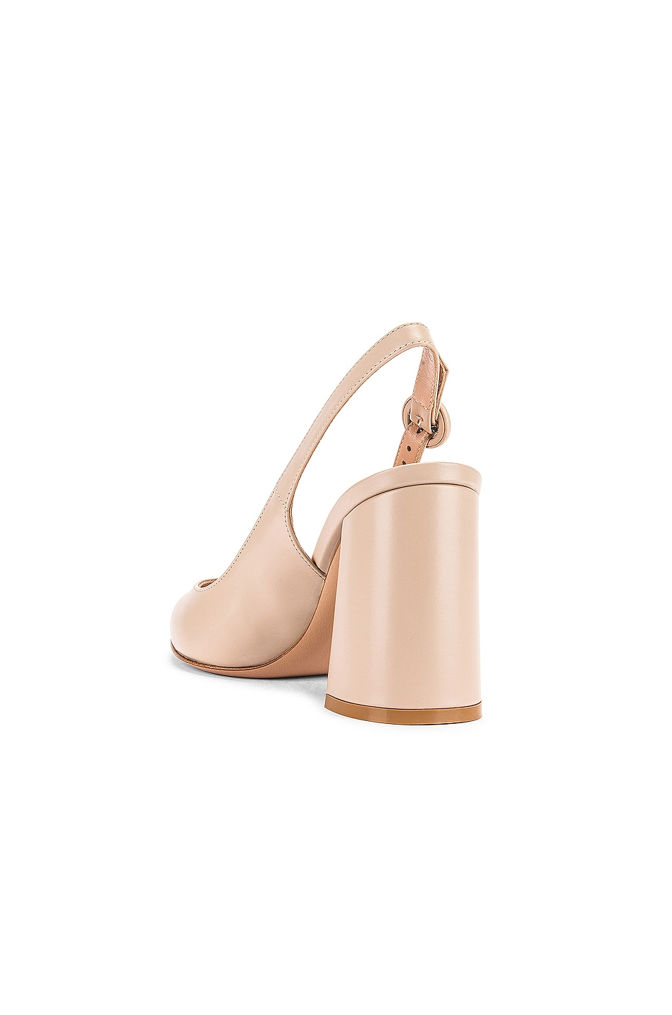Image 3 of Gianvito Rossi Vitello Slingback Sandals in Mousse