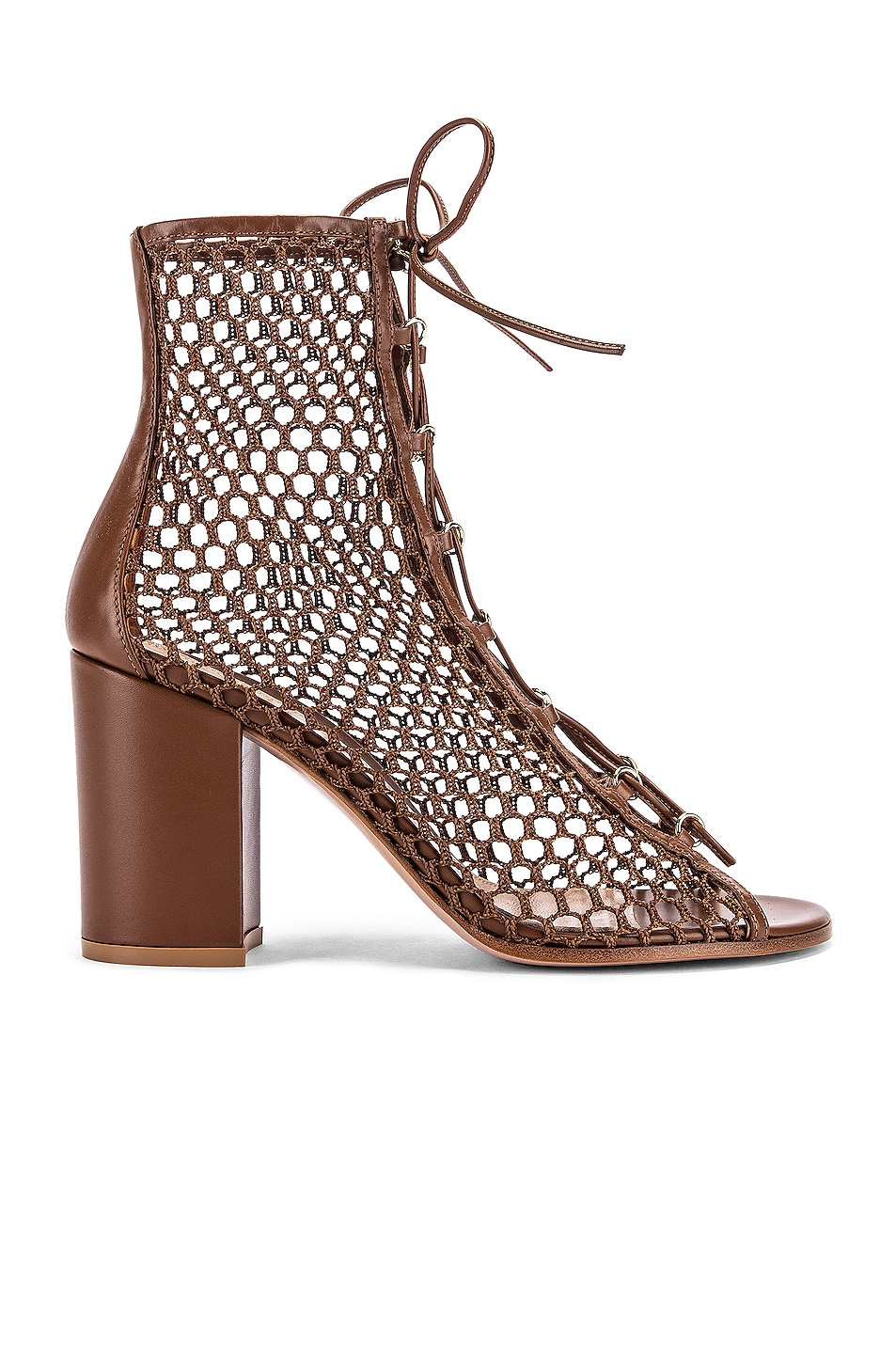 Image 1 of Gianvito Rossi Lace Up Booties in Cuoio
