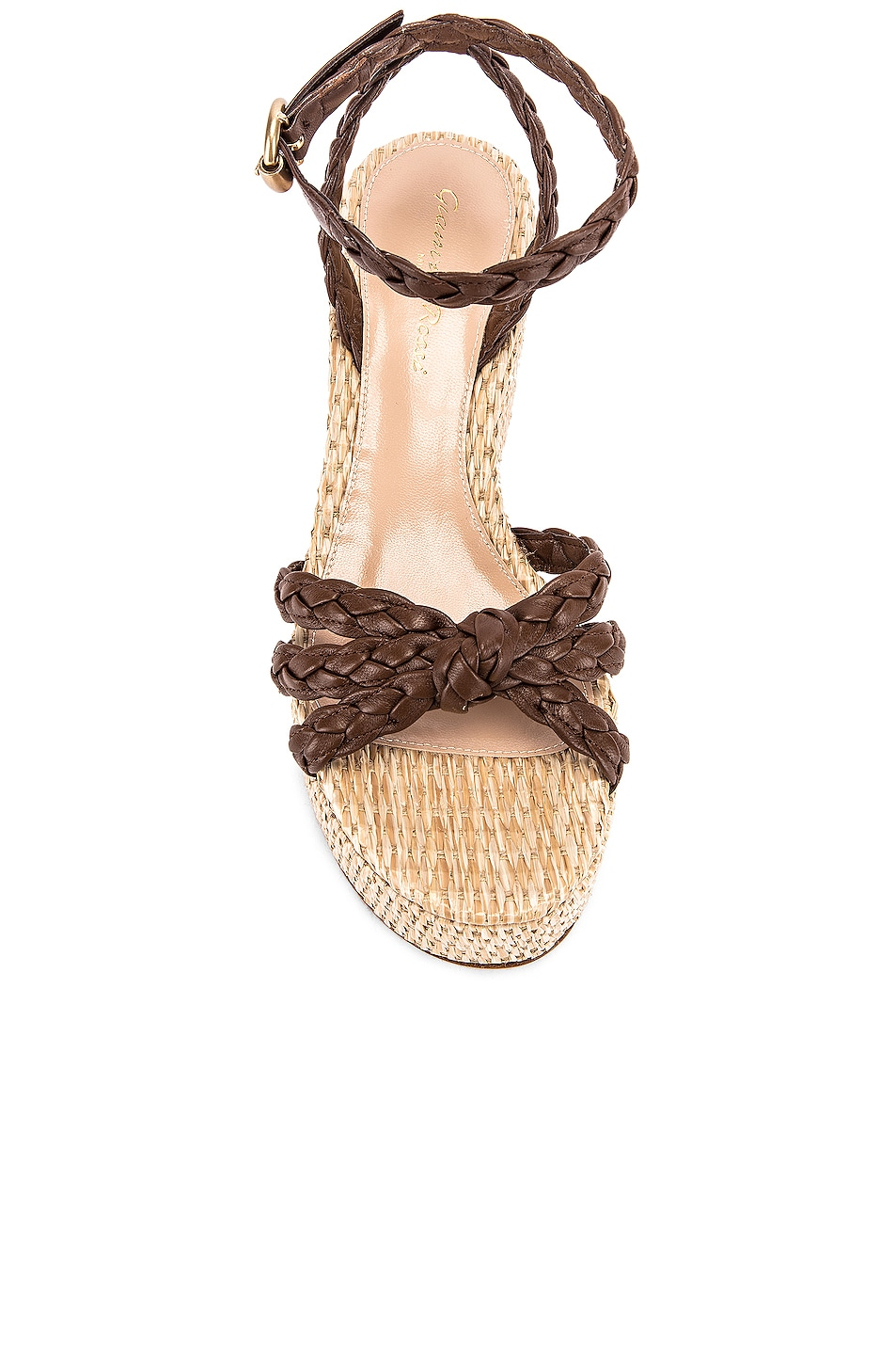Image 4 of Gianvito Rossi Ankle Strap Platform Espadrille in Texas & Natural