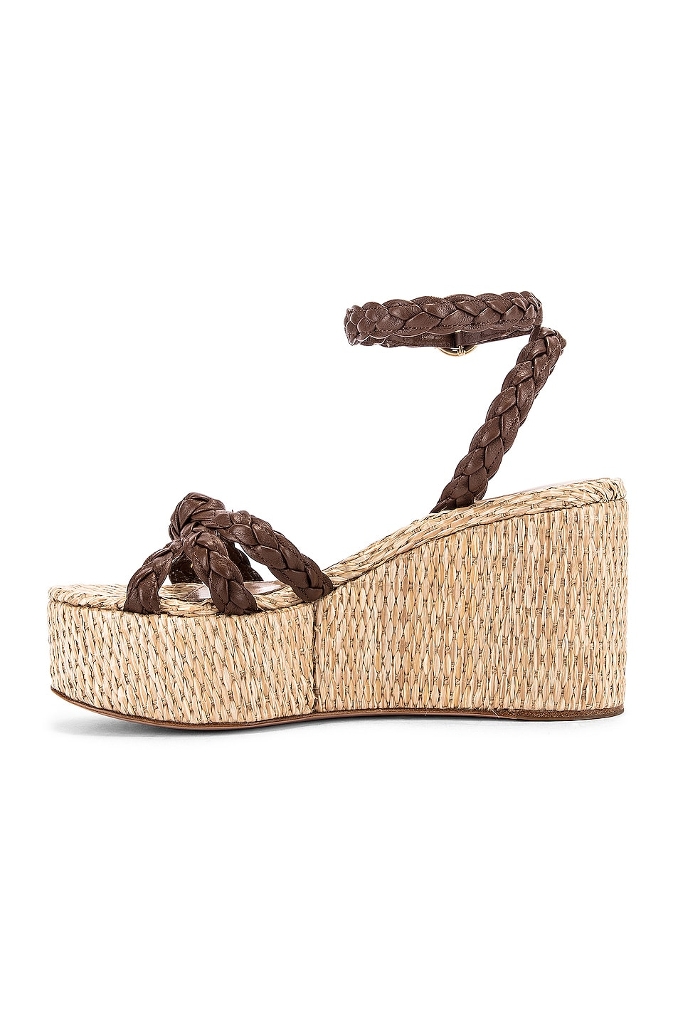 Image 5 of Gianvito Rossi Ankle Strap Platform Espadrille in Texas & Natural