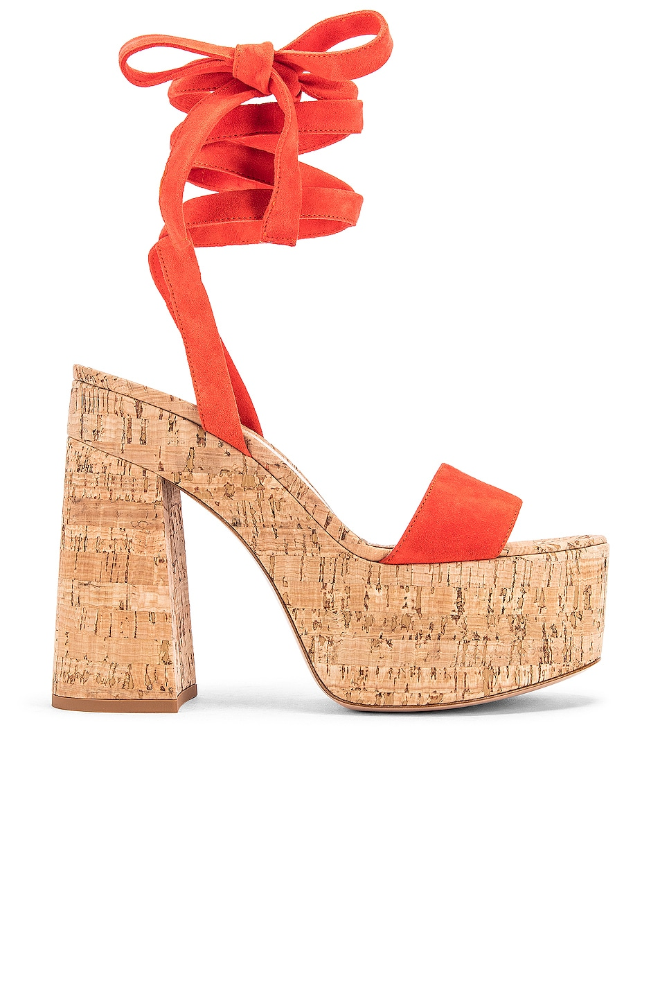 Image 1 of Gianvito Rossi Strappy Platform Sandals in California & Natural