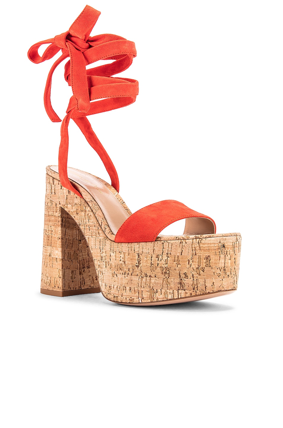 Image 2 of Gianvito Rossi Strappy Platform Sandals in California & Natural