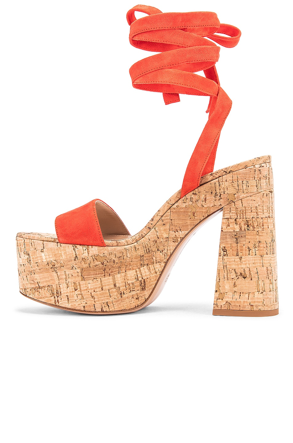 Image 5 of Gianvito Rossi Strappy Platform Sandals in California & Natural