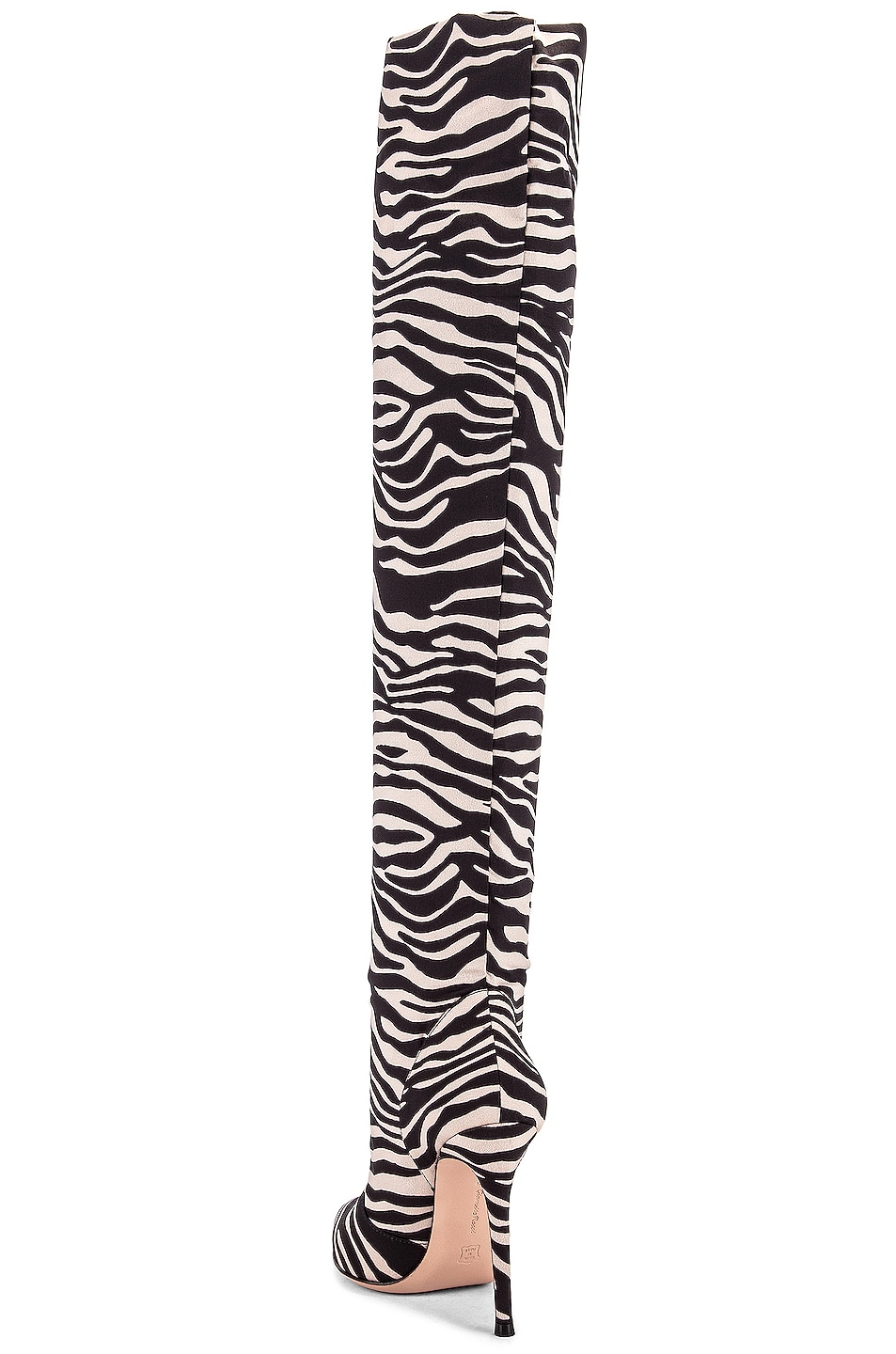 Image 3 of Gianvito Rossi Suede Knee High Boots in Zebra