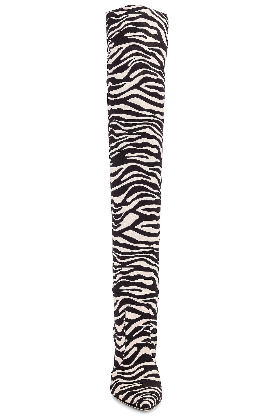 Image 4 of Gianvito Rossi Suede Knee High Boots in Zebra